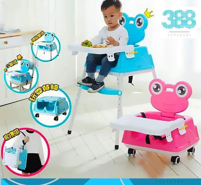 【READY STOCK】8 in 1 Kids Frog Portable Folding Dining Table Learning Chair
