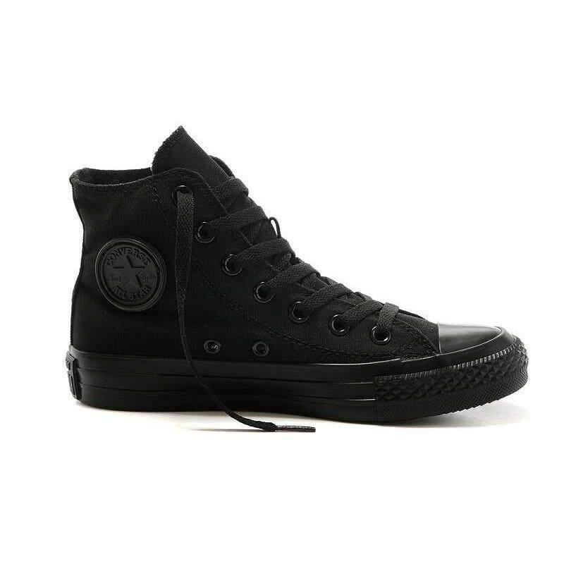 สอนใช้งาน  ราชบุรี Converse Unisex All Star TOP TOP รองเท้ากีฬาผ้าใบสีดำทั้งหมด
