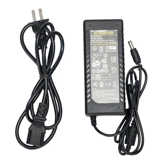 5.5mm DC 9V 5A Power Adapter Charger for Laptop Monitor Studio light New