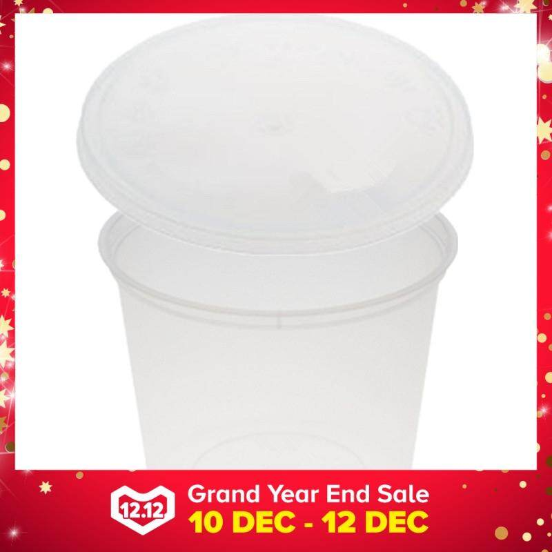 750ml PP Microwavable Round Containers With Lids Clear 5pcs