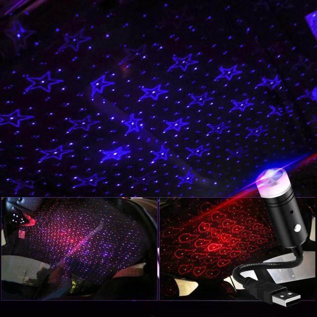 USB Laser Nhấp Nháy Dự Tiệc, Đèn Led Ban Đêm Hình Ngôi Sao Trên Nóc Xe Hơi Vũ Trường Đèn Chiếu Khí Quyển Diode Nội Thất, Đèn Xung Quanh Xe Ô Tô