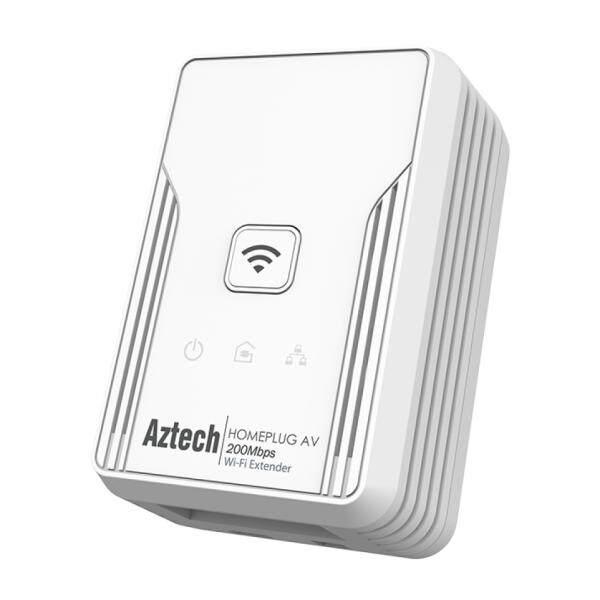 Aztech HL113EW HomePlug AV 200Mbps Single Band Wireless N 150Mbps WiFi Range Extender