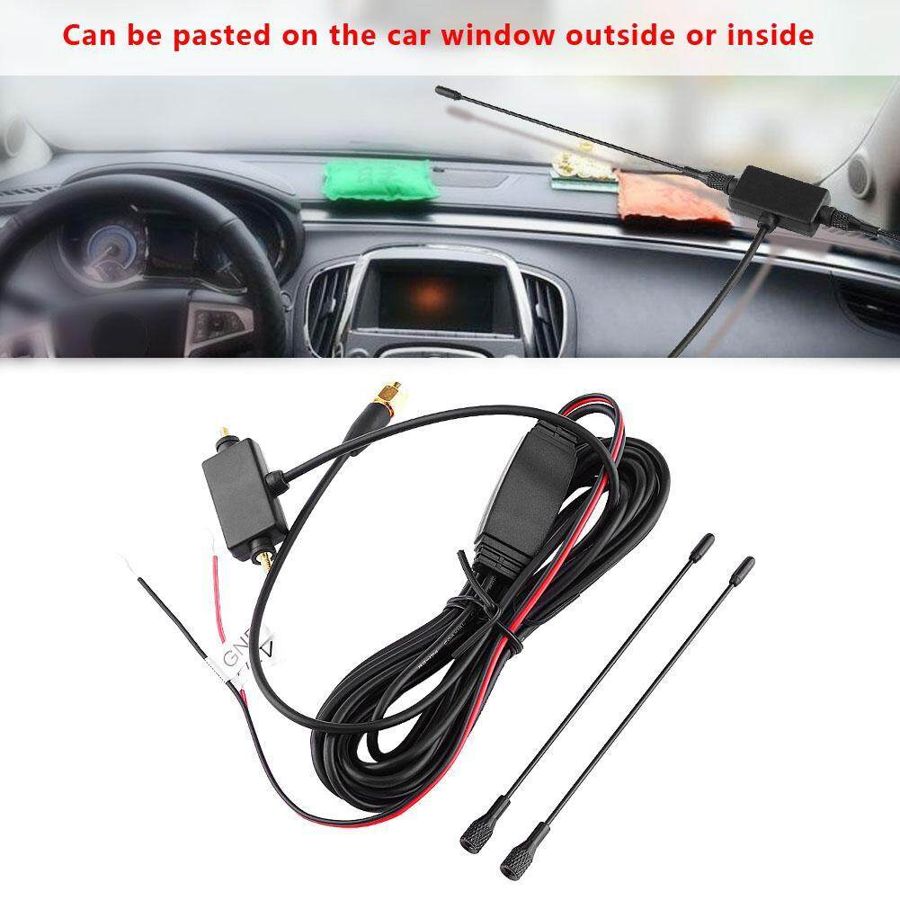 Car SMA Active Antenna with Built-in Amplifier for Digital TV Strong  Receiving Signal