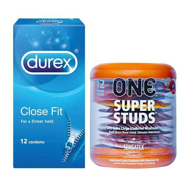 One Super Studs Dotted Condoms 12pc + Durex Close Fit Condoms 12s