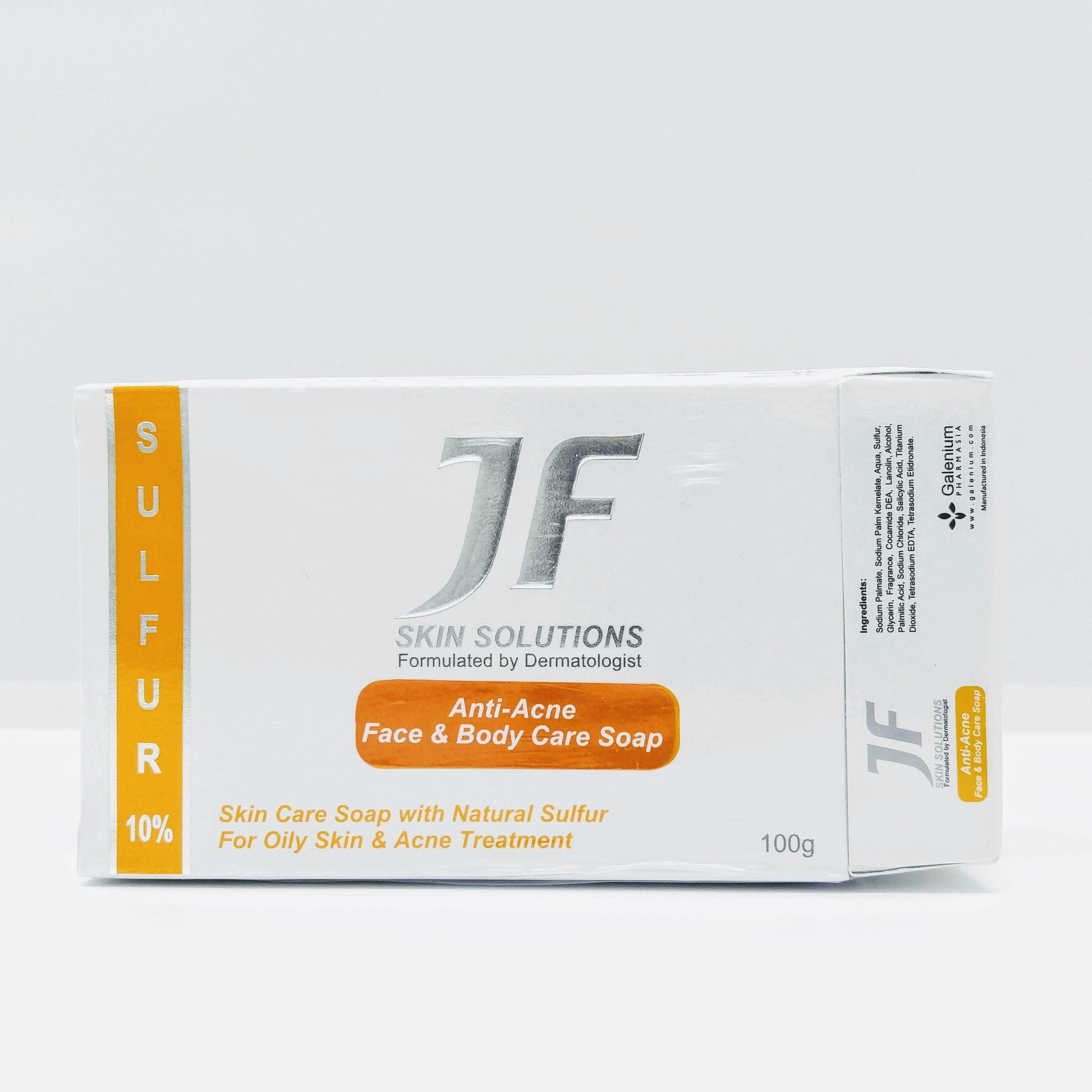 JF Anti Acne Face & Body Care Soap [Sulfur 10%] 100g exp22.04