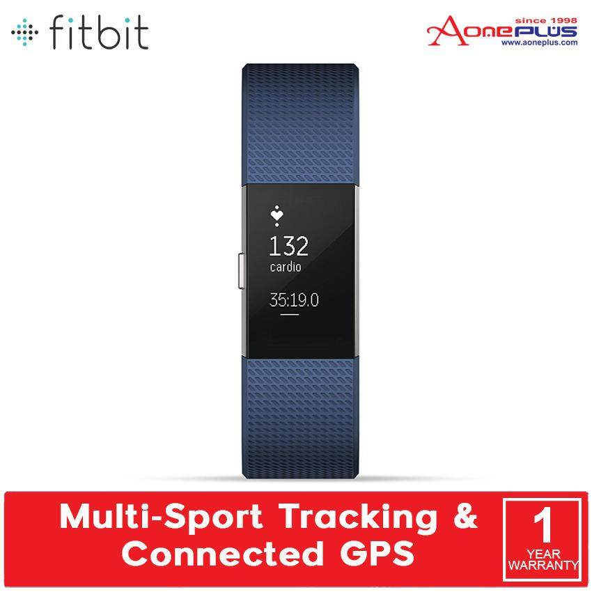 Fitbit Charge 2 FB407 Black Silver / Blue Silver / Plum Silver - (Small/Large)