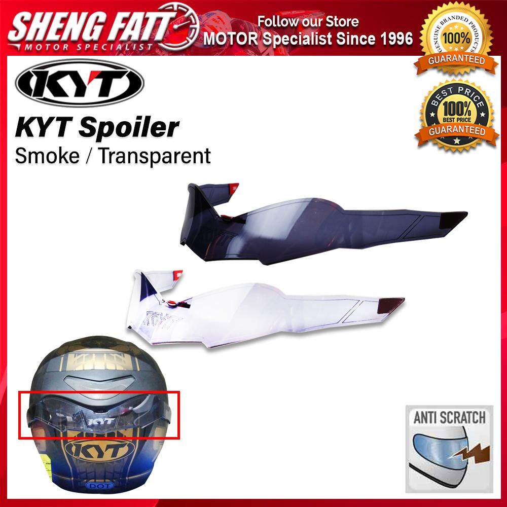 KYT Spoiler Venom / Hellcat Open Face Motorcycle Helmet (Smoke / Transparent)