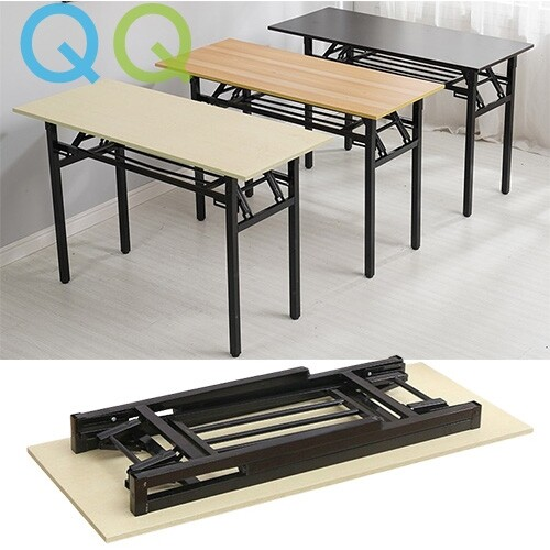 QQ Foldable Computer Desk Student Study Learning Writing Desks  Portable Workstation Outdoor Picnic Banquet Table with Adjustable Legs for Small Spaces Home Office School