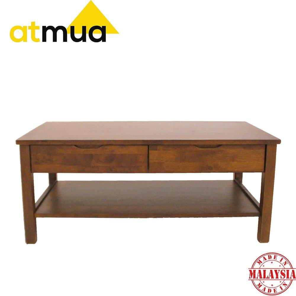 Rubberwood Coffee Table.Atmua Avenger Coffee Table Living Room Set Full Solid Rubber Wood