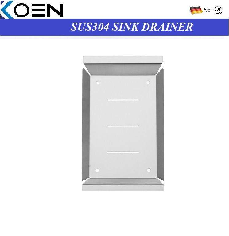 KOEN SUS304 STAINLESS STEEL SOLID SINGLE LAYER DISH DRAINER KICTCHEN SINK STORAGE KN-SD043SAT