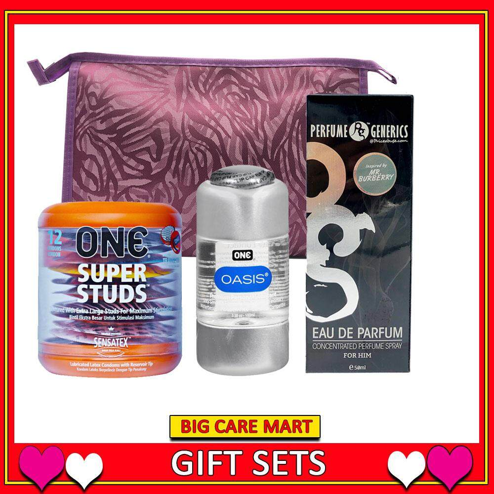 Valentine Gift Romantic : One Super Studs Condoms + Lube + Perfume