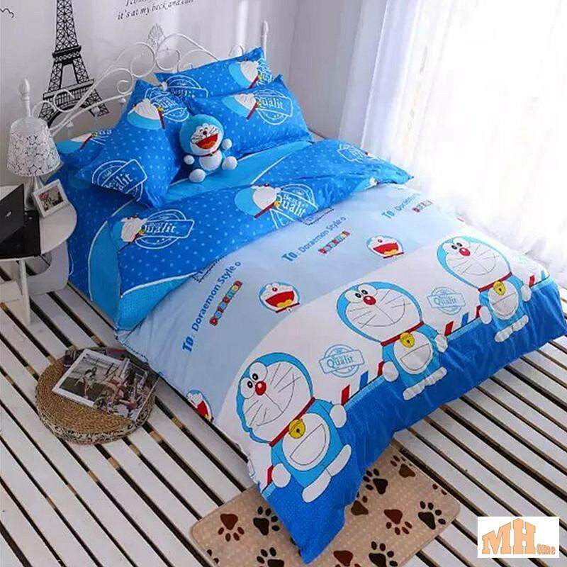 Maylee High Quality 4pcs Doramon Queen Fitted Bedding Set (FM-DOR)