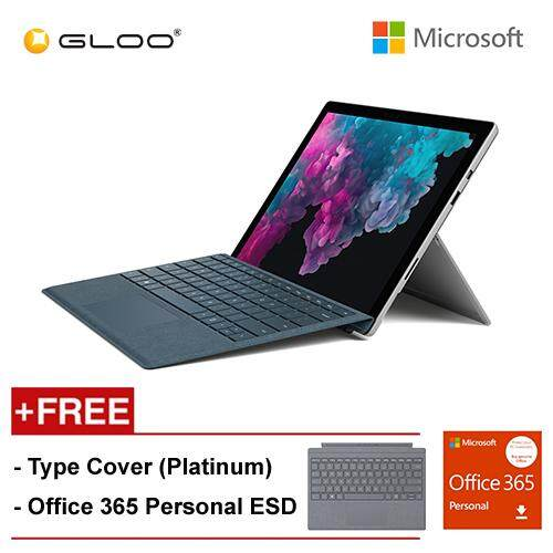 NEW Microsoft Surface Pro 6 Core i7/8GB RAM - 256GB + Type Cover Platinum + Office 365 Personal