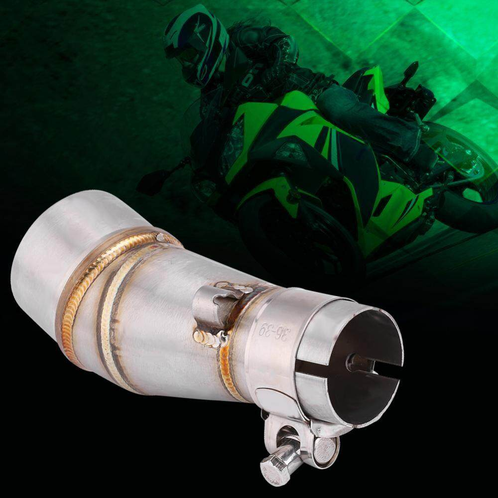 Moto Accessories - Motorcycle Slip On Exhaust Middle Link Pipe Adapter Connector for Kawasak