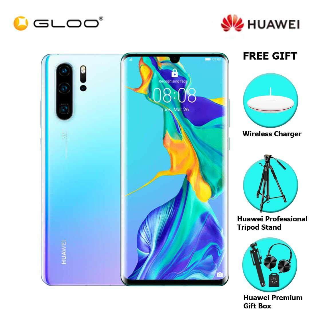 Huawei P30 Pro 8GB+256GB Breathing Crystal + FREE Huawei Wireless Charges CP60 6901443259328,Huawei Professional Tripod Stand,Premium Gift Box (Headset/Selfie Stick/iRing)