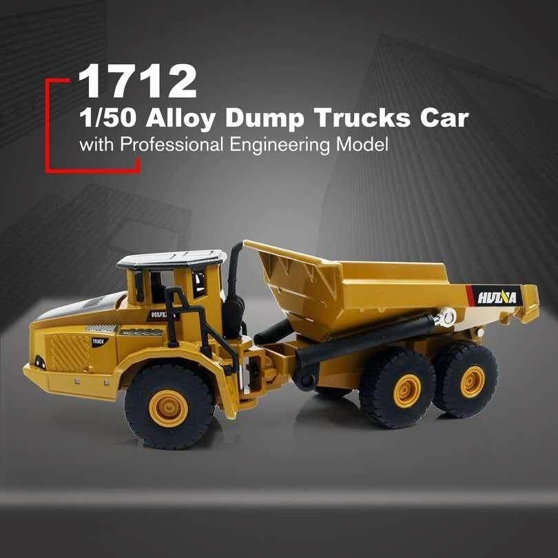 HUINA 1712 1:50 Diecast Alloy Articulated Trucks Car