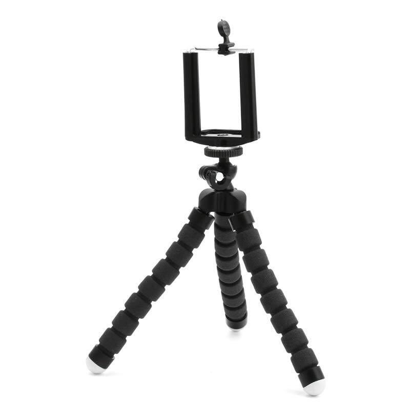 ... Fleksibel Stand Tripod Gorila Gunung Monopod Pemegang Gurita untuk Go Pro Kamera Hitam - 5