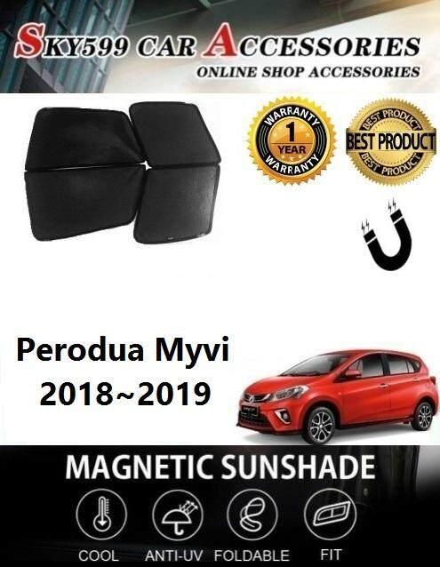 Perodua Myvi 2018-2019 Magnetic Sunshade 4pcs