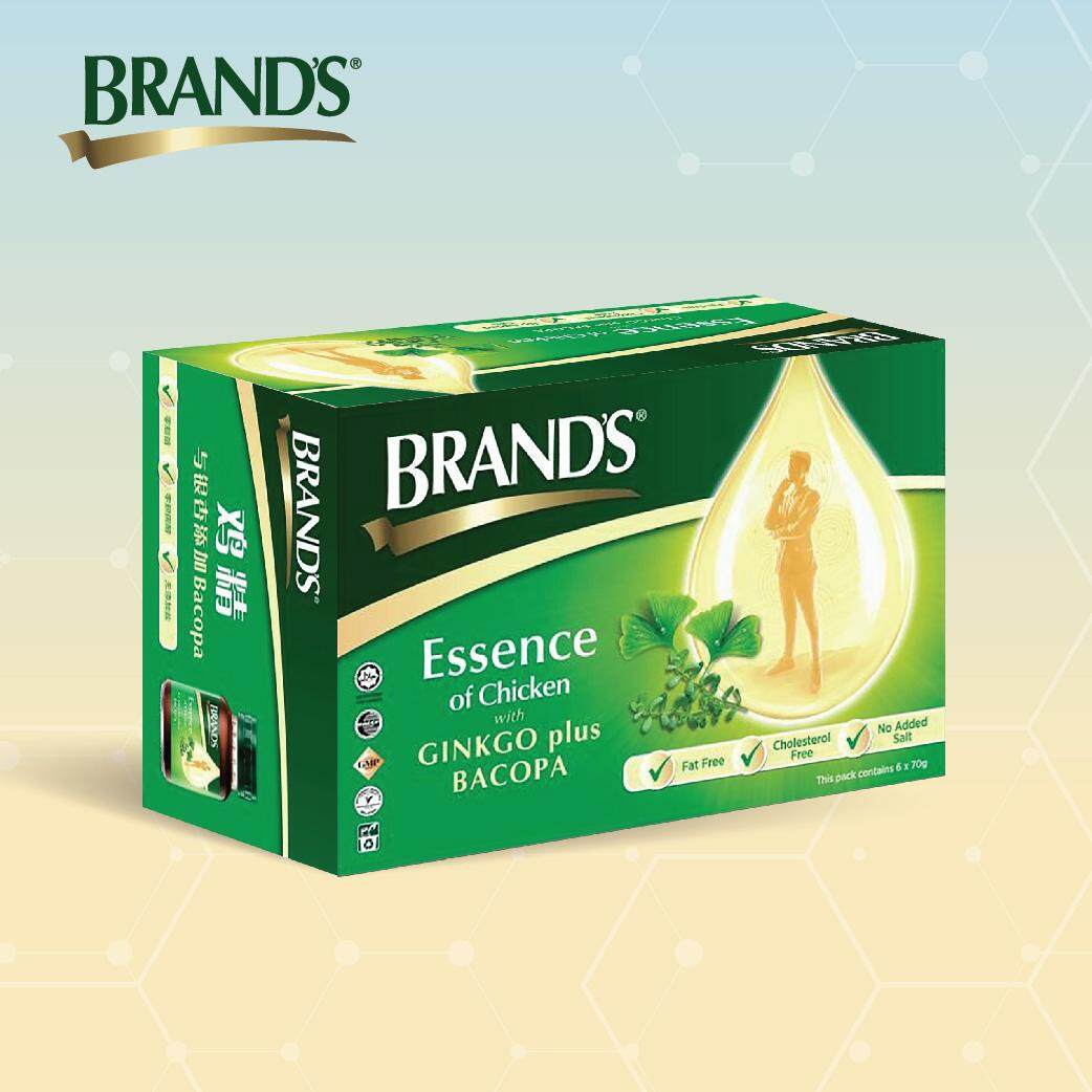 BRAND'S Essence of Chicken with Bacopa + Ginkgo Single Pack (6's) - 6 bottles x 70gm