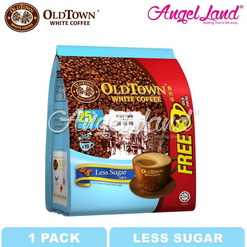 OLDTOWN White Coffee 3-in-1 Less Sugar Instant Premix White Coffee (15'S+3'S X 1 pack)