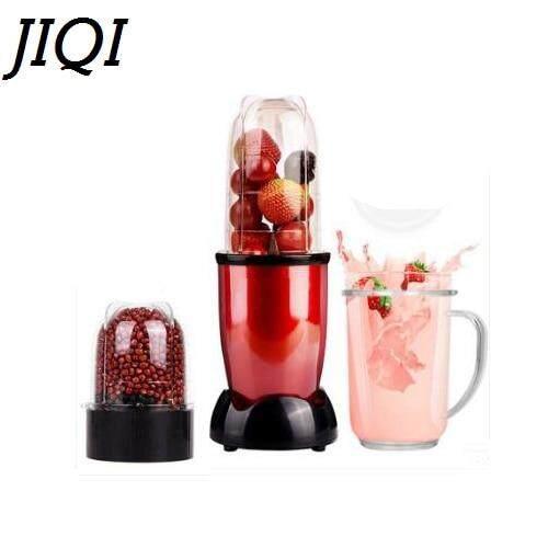 JIQI Mini แบบพกพาเครื่องปั่นน้ำผลไม้ไฟฟ้าอาหารเด็ก Milkshake Mixer เครื่องบดเนื้อ Multifunction ผลไม้เครื่องทำน้ำผลไม้ EU US