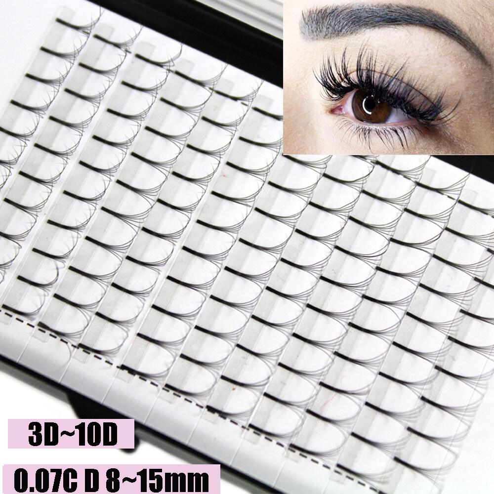 SKONHEDขนตาปลอม12เส้นแบบ3D ~ 10D,ขนตาปลอมกึ่งถาวรได้อย่างรวดเร็วC Dขดหนา0.07หนาต่อขนตาให้หนาขึ้น
