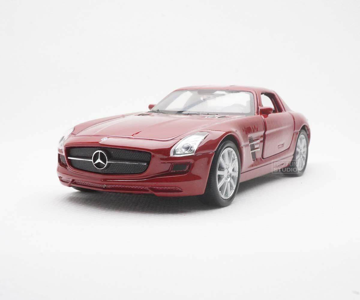 Welly Mercedes-benz SLS AMG racing 1/36 1/32 1/34 Diescat Car model - Red