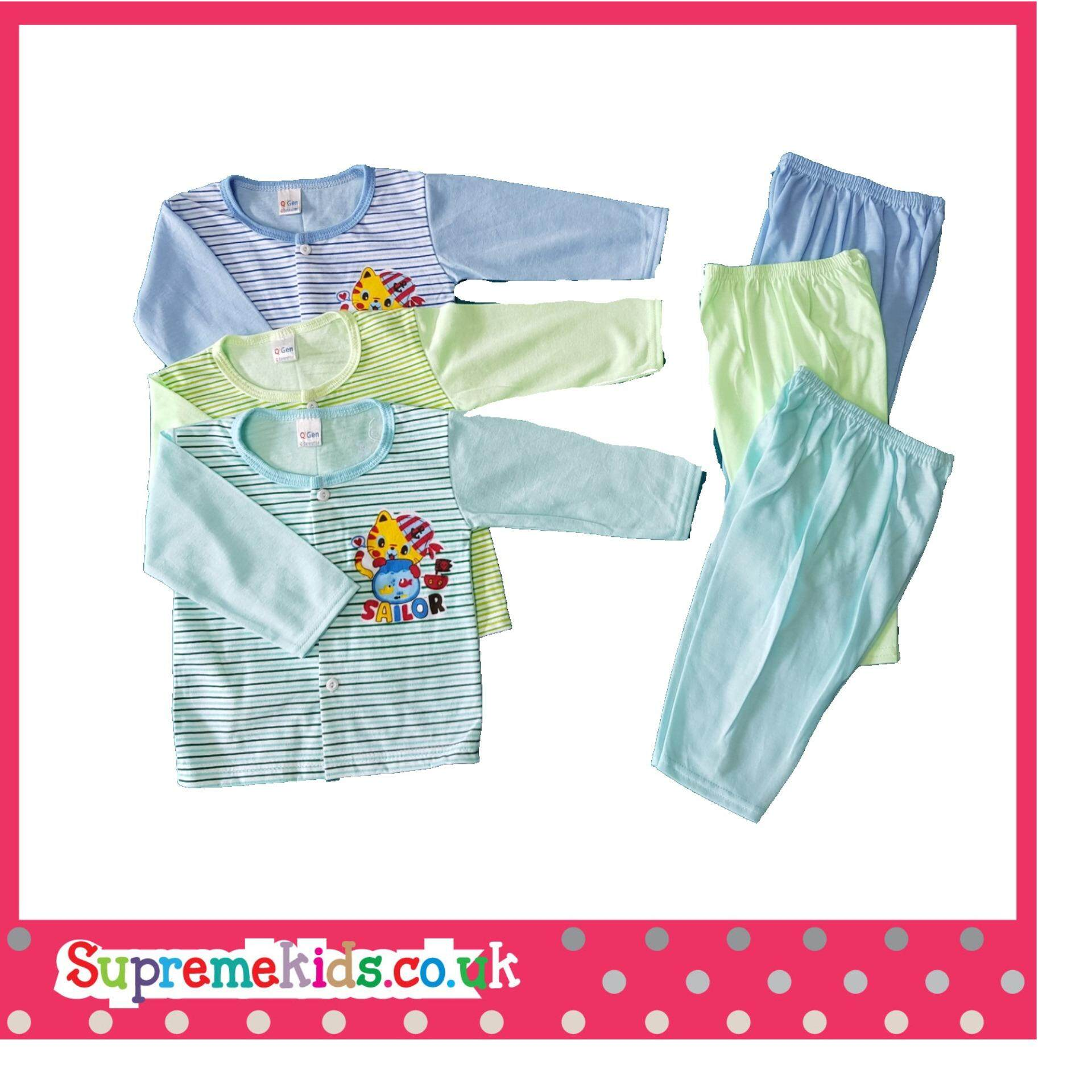 6PCS Baby Clothes 6-12M cartoon newborn clothing set Pajamas new born