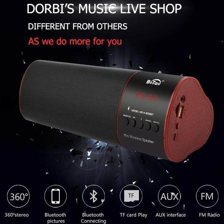 Two Double Woffer Mini Speaker With Fm Radio