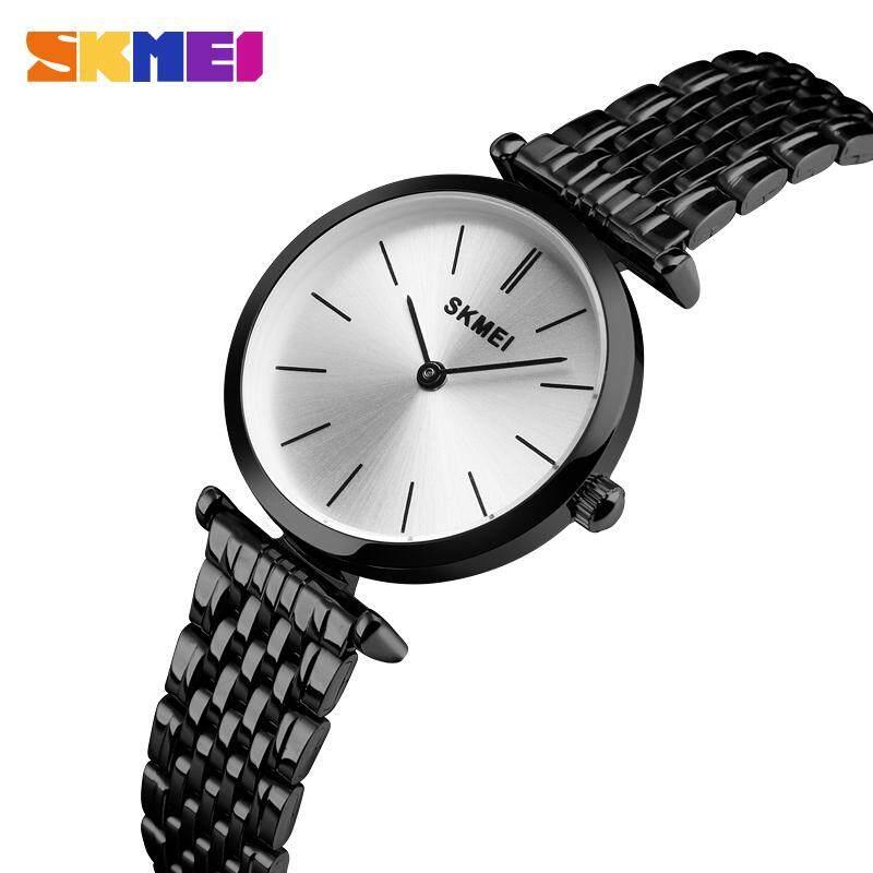 SKMEI Luxury นาฬืกาควอทซ์ผู้หญิงนาฬิกาข้อมือแฟชั่น Casual กันน้ำนาฬิกาควอตซ์ขนาดเล็กนาฬิกาข้อมือผู้หญิง 1458