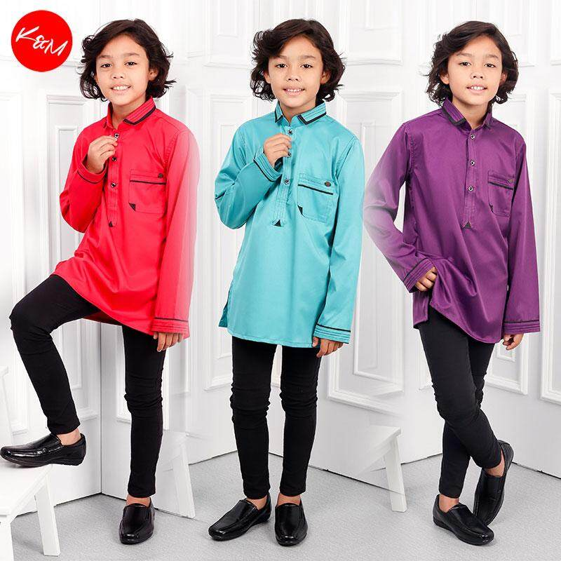 KM Khairul Smart Collar Kids Traditional Shirt B19767