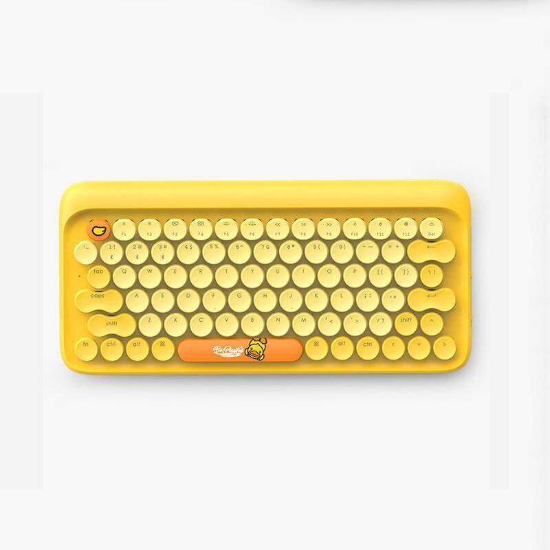 ตรัง Lofer dot dot dot บลูทูธคีย์บอร์ดแบบกลไก lofree โทรศัพท์ไร้สายคอมพิวเตอร์แป้นพิมพ์ MAC Limited เป็ดเหลืองขนาดเล็ก