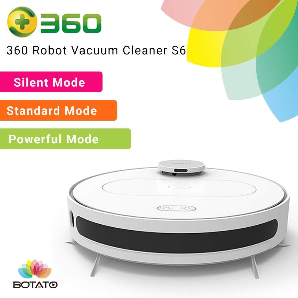 [ 360 Automatic Robot Vacuum Cleaner S6 ] 2019 New Global Version Smart and Cleaning Mopping Automatic Area Cleaning LDS lidar scanning APP Remote Control Cleaning Robot BOTATO ELECTRONICS Xiaomi Roborock Smart Robot Vacuum Cleaner S50 S55 Mop Cleaner