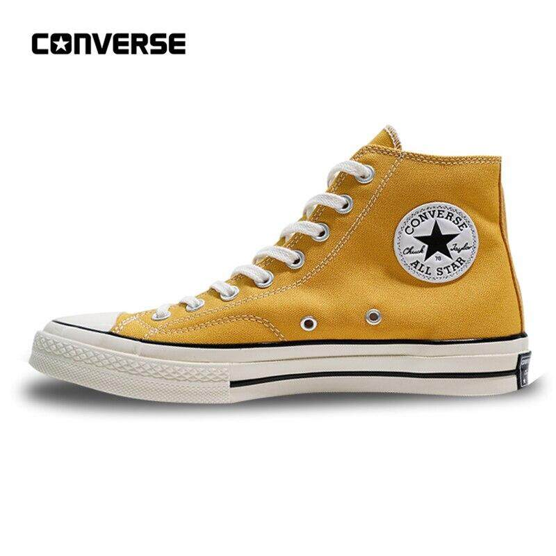 2020 Converse_All Star Men Women's Skateboarding Sneakers Canvas Shoes 1970s High Classic 162053C White 35-44