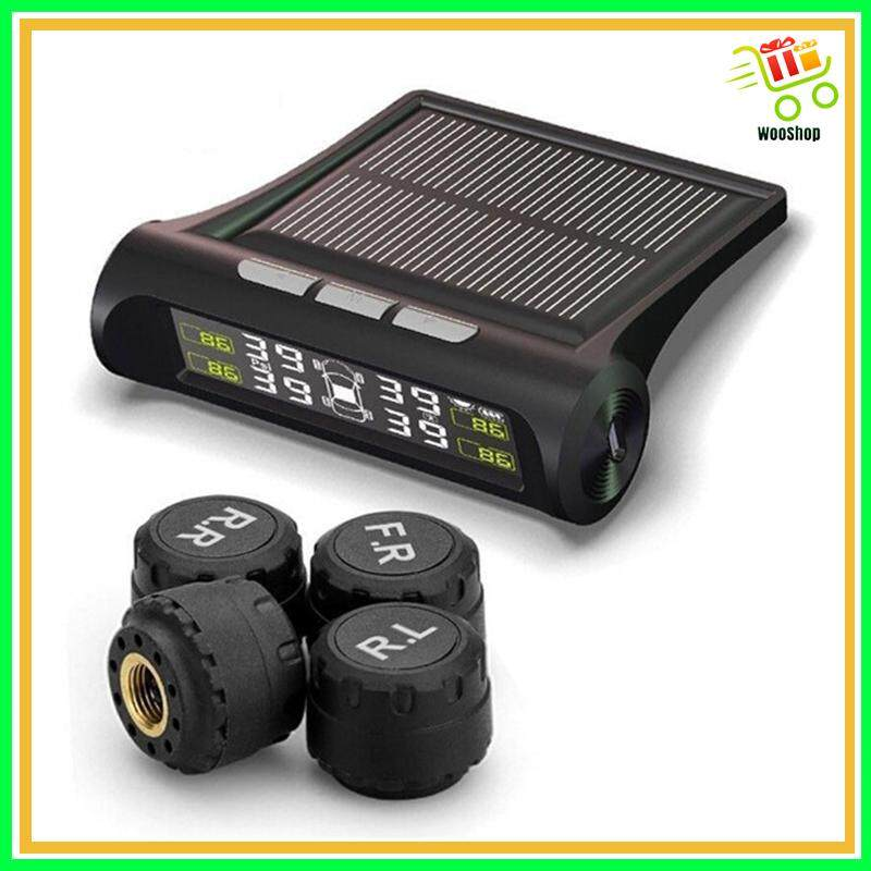 Solar WIRELESS Tpms Auto Car Tire Pressure Lcd Monitoring System - 1 SET