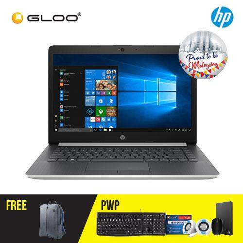 """NEW HP 14-ck0020TX / 14-ck0021TX 14"""" HD Laptop (i3-7020U, 1TB, 4GB, AMD Radeon 520 2GB, W10) - Black/Silver [FREE] HP Backpack [Redeem: RM50 Touch n Go credit - 17 Aug - 30 Sept 2019*]"""