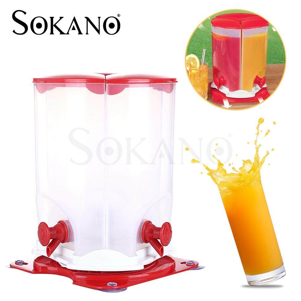 SOKANO 3 Spin Rotation Compartment Juice Dispenser Bekas Jus Berputar