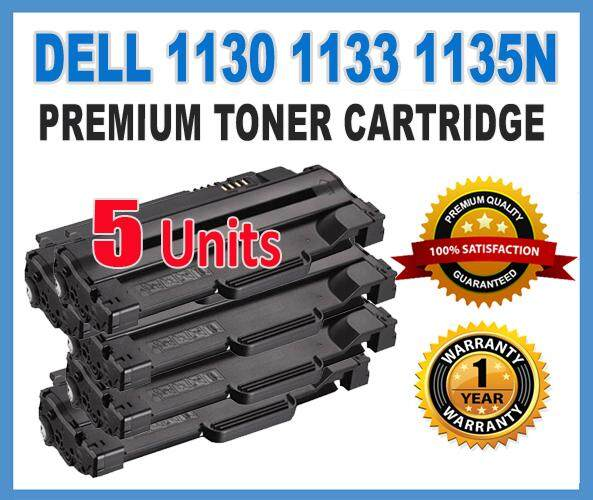 AAA Quality DELL 1130 1130n  1133 1135n (5 Units) Laser Printer Compatible Toner Cartridge