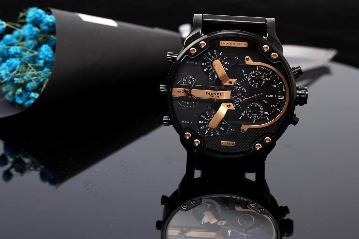 ยี่ห้อนี้ดีไหม  สตูล สินค้าของแท้ 100% กันน้ำดีเซลนาฬิกาผู้ชายสไตล์ใหม่! รุ่นสำหรับทหาร. สาม - Eye นาฬิกาจับเวลา Mineral Toughened แก้วกระจกญี่ปุ่นควอตซ์ Core. สายเรซิน