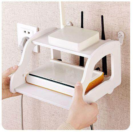 Television Top Box Stand Free Punching Wifi Modem Storage Rack