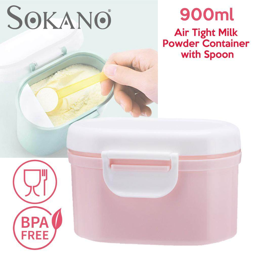 (RAYA 2019) Portable Air Seal Milk Powder Air Tight Container with Spoon Milk Powder Container Storage Box Food Storage Box Bekas Susu Tepung