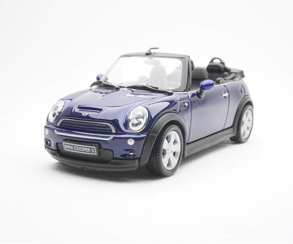 Welly Mini Cooper S Cabrio 2014 1:43 1/43 Diescat Car model Blue