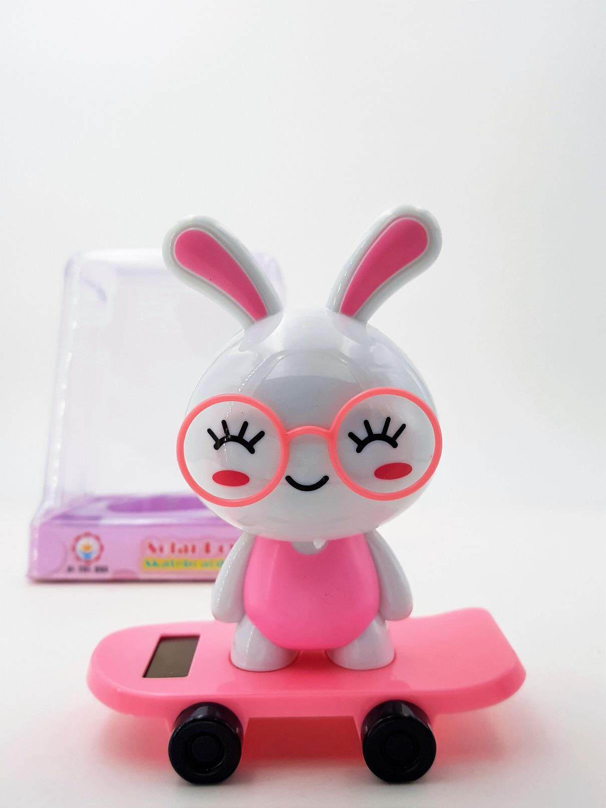 Cute Pink Rabbit Shaking Head Car Toy