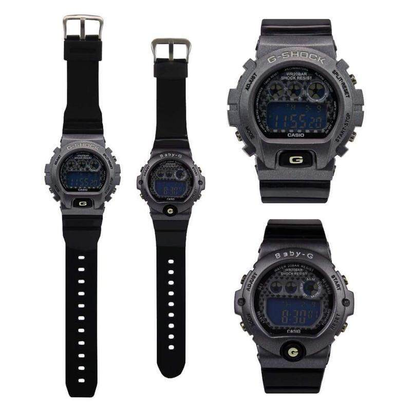 New Fashion Casio G-Shock_Couple Dw-6900 Set Digital Time Display For Men & Women With Own Heart Gift Box Mineral Glass New Sport Casual Follow Us For More