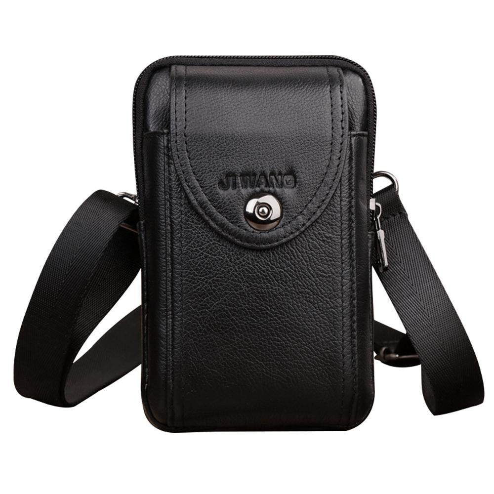 37cdc1adc0d3 Auoker Vertical Genuine Leather Belt Bag - Cellphone Holster Waist Pouch /  Phone Bag Small Travel Crossbody Purse for Men and Boys