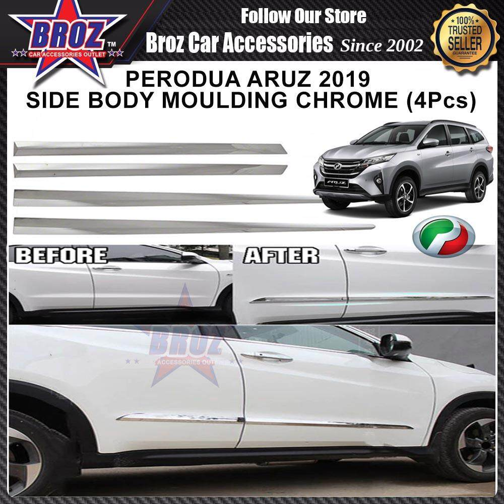 Perodua Aruz 2019 Car Side Door Moulding Chrome (4 Pcs)