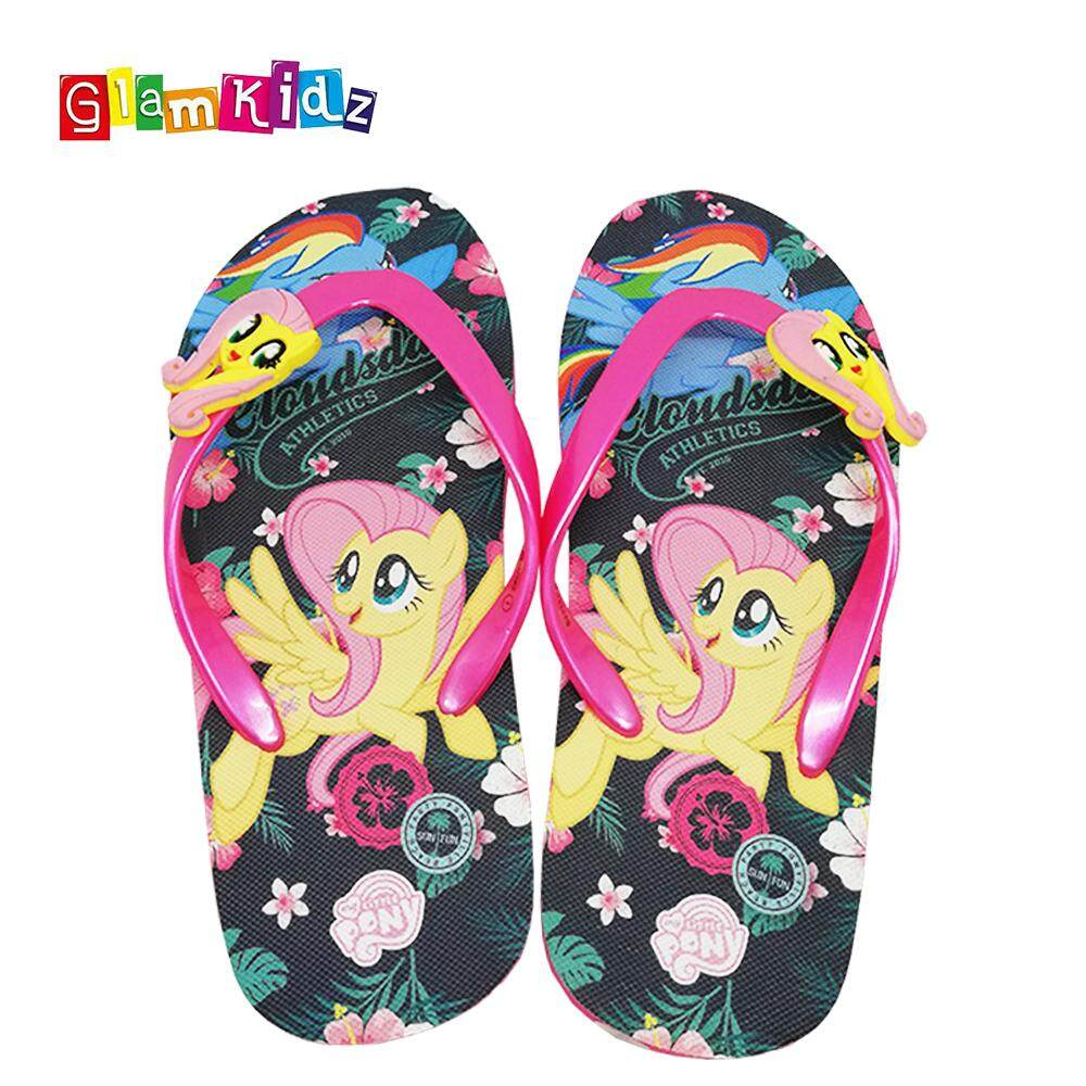 2dc01284685 GlamKidz My Little Pony Girls Slippers (Black)  2596
