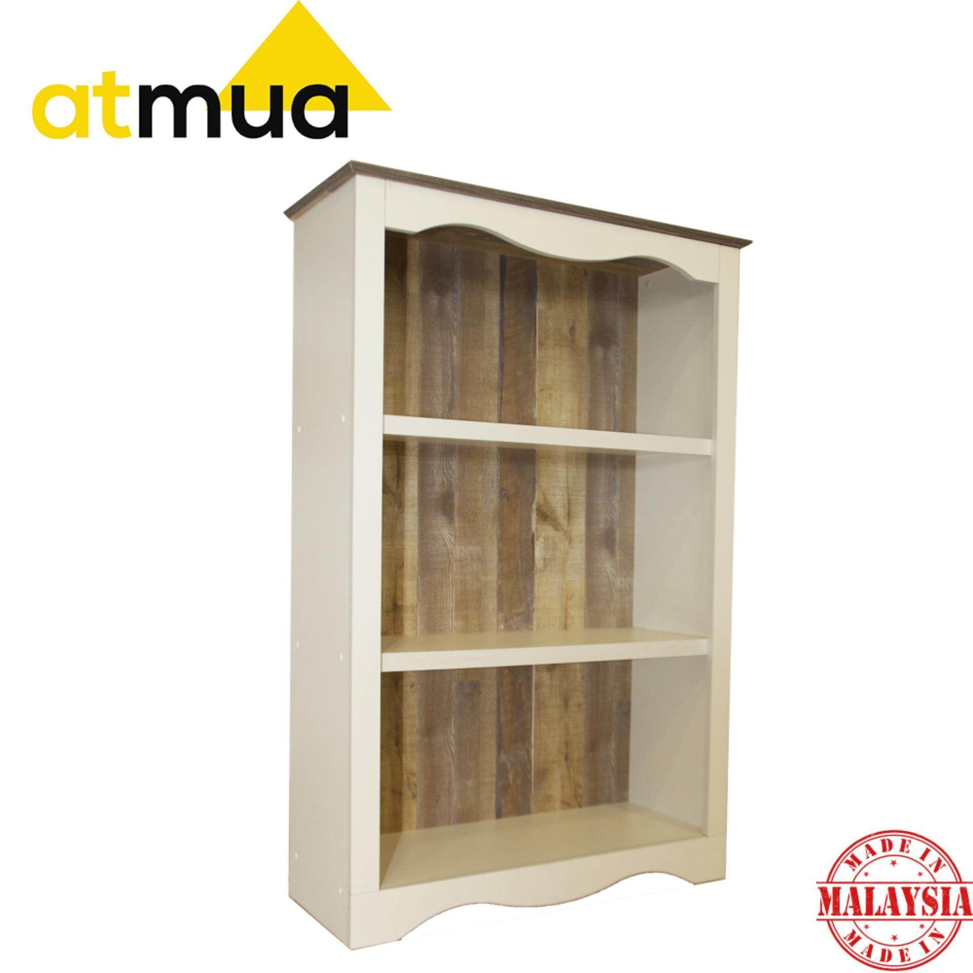 Atmua Ibul 3 Tier Book Shelf [High Quality Partical Board]