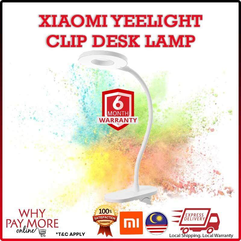 Xiaomi Mijia Yeelight Charging Clamp Table Lamp J1 With LED 5W Three-shift Dimming Adjustable Brightness Desk Lamp 0-5W