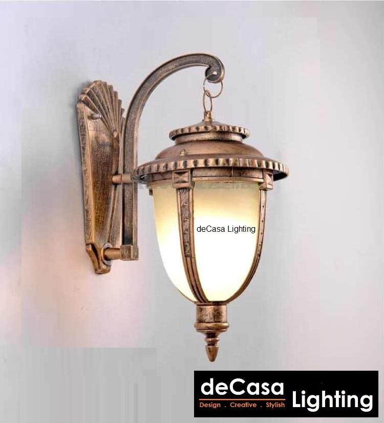 Lampu Hiasan Outdoor Decasa Lighting L Size Marble Glass Wall Lamp Best Seller Outdoor Wall Light Outdoor Lighting (OD-W5031-AB-L)